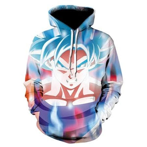 TUNSECHY Anime Dragon Ball Z Pocket Hooded Sweatshirts Kid Goku 3D Hoodies Men Women Long Sleeve New Hoodie Free transportation