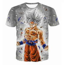 Load image into Gallery viewer, Dragon Ball Z Men's Summer  3D Printed T-shirts| Super Saiyan Kid Son Goku| Black God Zamasu Vegeta Jiren Dragonball T Shirt