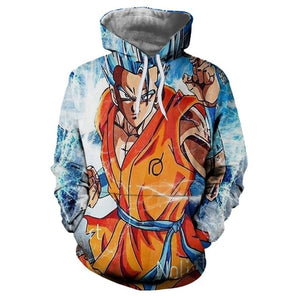 Anime Hoodies Dragon Ball Z Pocket Gohan Hoodies and Sweatshirts | Kid Goku 3D Hoodies