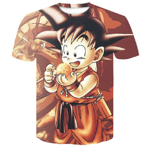 manga dragon ball z Super Saiyan Son Goku Anime Summer 3D Print 2019 Newest Fashion Tee Tops Men / Boys Cartoon Casual T Shirt