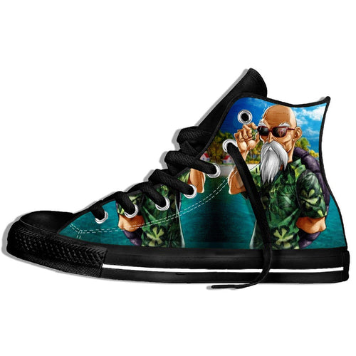 High Quality Fashion Casual Dragon Ball Z Goku Print Men/Women Harajuku Brand  Funny Canvas Shoes