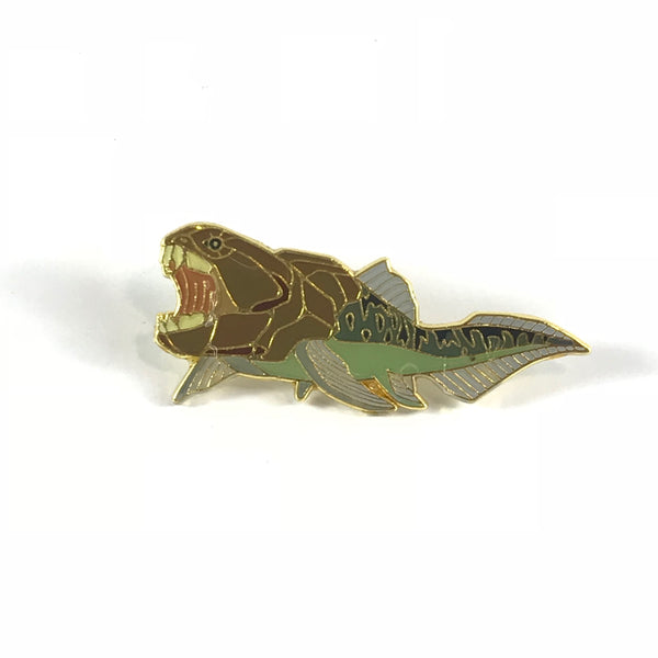 Dunkleosteus Enamel Pin - THE STEMCELL SCIENCE SHOP