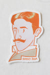 Nikola Tesla's Confident Bust Sticker - THE STEMCELL SCIENCE SHOP