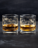 Night Sky Star Chart Old-Fashioned Glasses - The STEMcell Science Shop