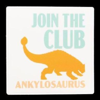 "Ankylosaurus ""Join The Club"" Sticker - THE STEMCELL SCIENCE SHOP"