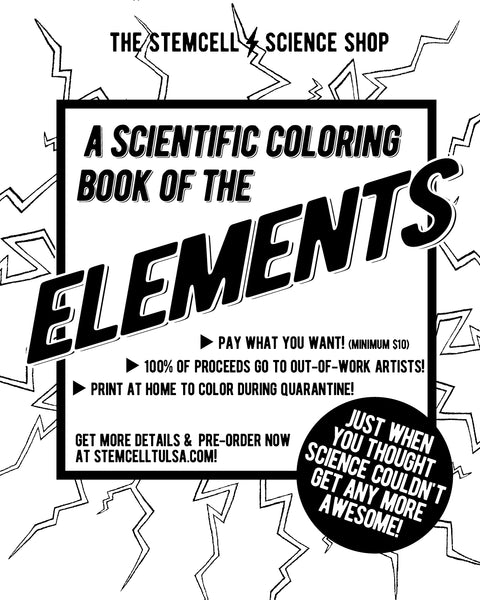 Coloring Book of Elements (to Support Artists Impacted by COVID) - THE STEMCELL SCIENCE SHOP