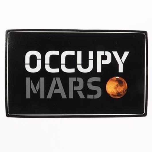 Occupy Mars Sticker - THE STEMCELL SCIENCE SHOP