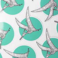 Pteranodon Teal Sticker - THE STEMCELL SCIENCE SHOP