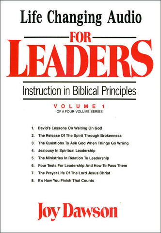 Instruction in Biblical Principles for Leaders - Volume. 1 (8 CD Series)