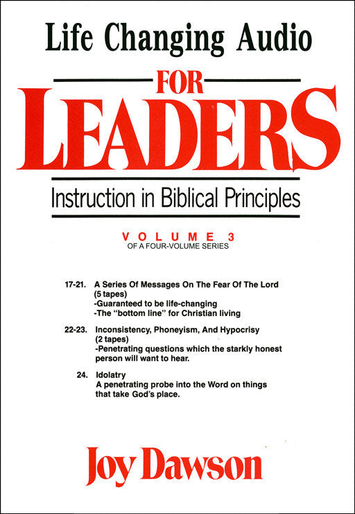 Instruction in Biblical Principles for Leaders - Volume. 3 (8 CD Series)