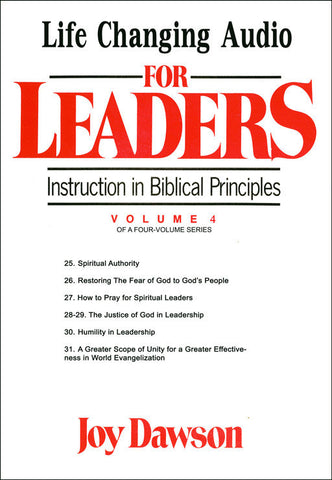 Instruction in Biblical Principles for Leaders - Volume. 4 (8 CD Series)