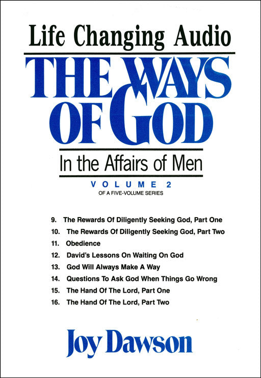 The Ways of God in the Affairs of Men - Volume 2 (8 CD Series)