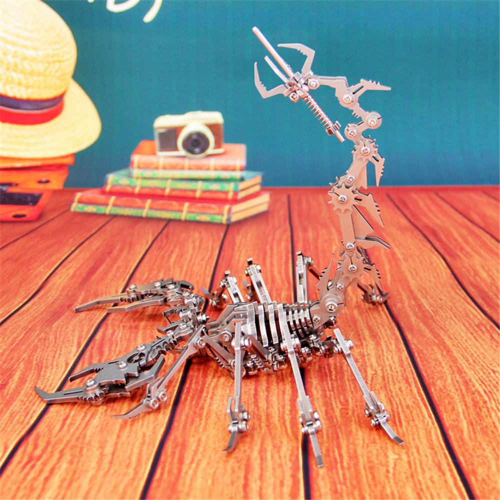 3D Steel Scorpion Puzzle Kit - The Tinkertown