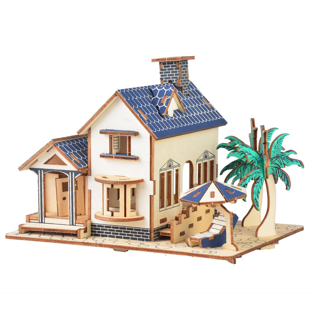 3D Woodcraft Seaview Villa Kit - The Tinkertown