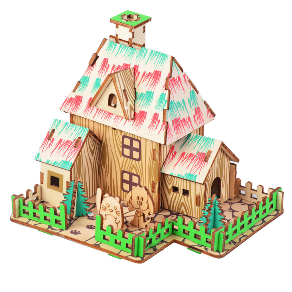 3D Woodcraft The Wizard of Oz House Kit - The Tinkertown