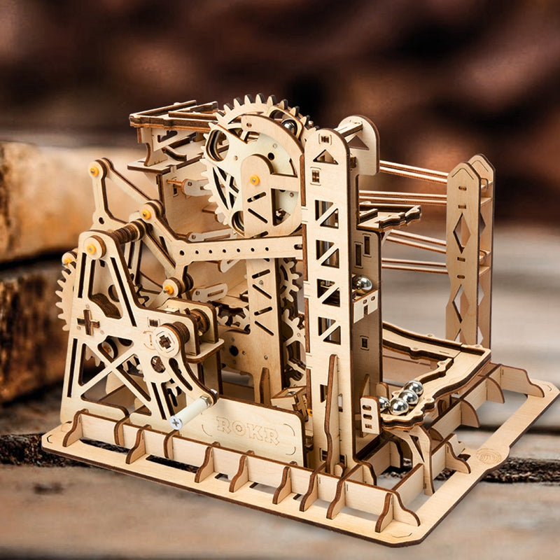 3D Woodcraft Marble Run Tower Coaster Kit - The Tinkertown