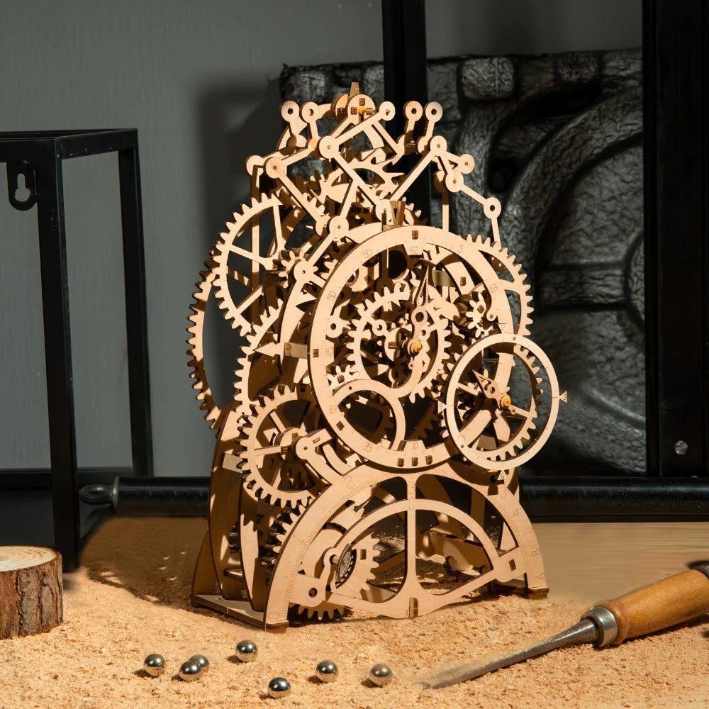 3D Woodcraft Pendulum Clock Kit - The Tinkertown