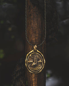 """Sorgere"" - Pendant in Brass"