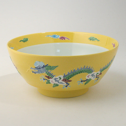 The Ultimate Ramen Bowl 'Cohchin Dragon Yellow' + Matching Spoon / Arita-yaki