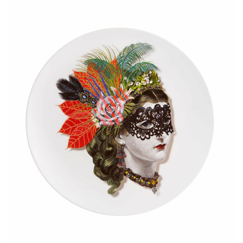 Christian Lacroix Love Who You Want Dessert Plate -Mamzelle Scarlet