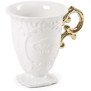 I-Wares Porcelain Mug with Gold Handle