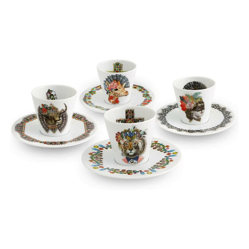 Christian Lacroix Coffee Cups & Saucers Love Who You Want (Set of 4)