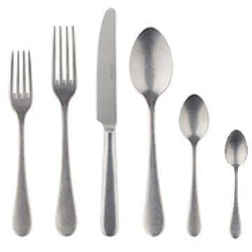 Sabre Flatware Vintage Stainless-Steel 6-Piece Place Setting, Service for 4 (24 pieces)