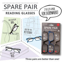 Load image into Gallery viewer, IF-Spare Pair Reading Glasses (+2.5)