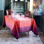 "Garnier-Thiebaut Tablecloth Ruby Green Sweet  69"" x 120"", Stain-Resistant Cotton"