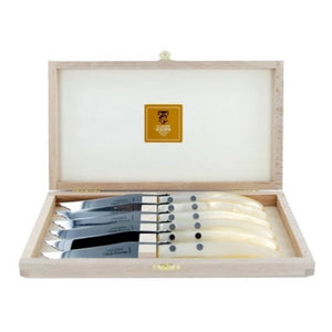 Berlingot Steak Knives Set of 6 Pearl