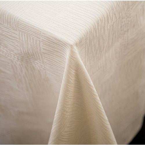 "Garnier-Thiebaut Tablecloth Hotel Collection Organic Ivory 72"" x 143"""