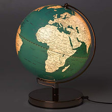"Load image into Gallery viewer, Illuminated Geographic World 10"" Globe LED-Lighting and USB Plug"