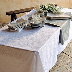 Mille Pensees Blanc Coated Tablecloth White 69