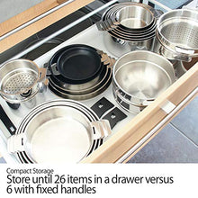 Load image into Gallery viewer, Cristel Strate S3CQLKSA Saucepan 1.5 quart/2 quart/3 quart Silver