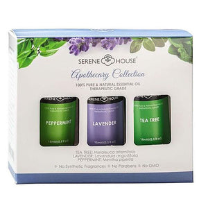 Essential Oils Apothecary Collection - Tea Tree, Lavender, Peppermint 15ml