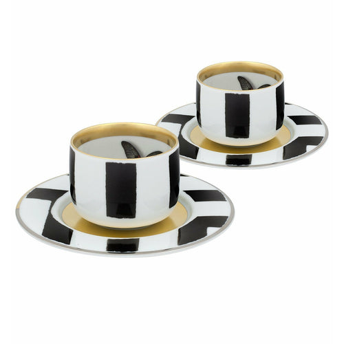 Christian lacroix Sol y Sombra Coffee Cup and Saucer set of 2