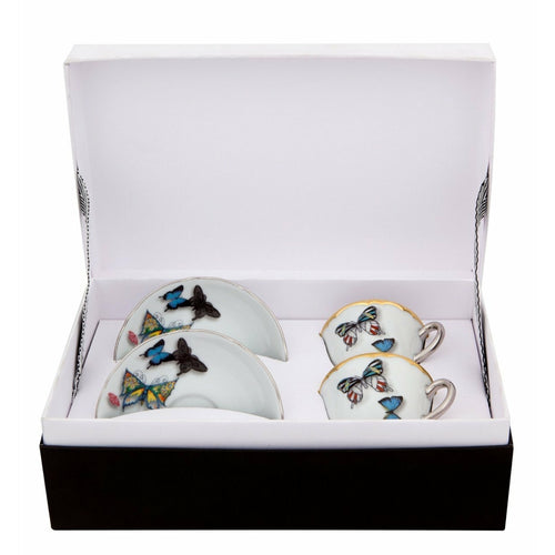 Christian Lacroix Coffee Cup & Saucer Butterfly Parade (Set of 2 )