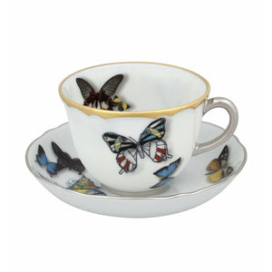 Christian Lacroix Butterfly Parade Coffee Cup and Saucer Set of 2