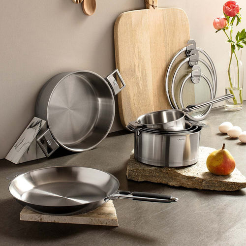 Strate 7 Piece Cookware Set with Removable Handles