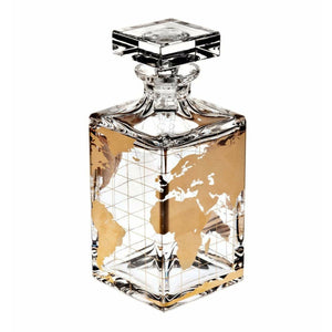 Vista Alegre Whisky Liquor Decanter Atlas Gold