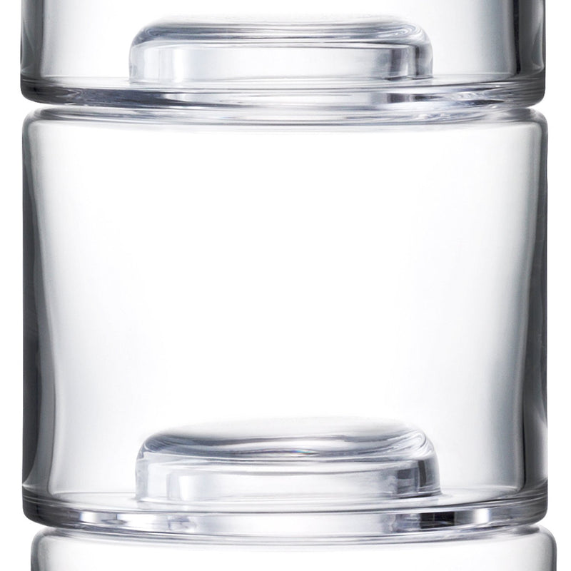 Stack Clear Vase Trio