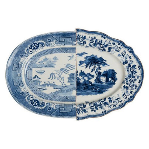 Hybrid Diomira Oval Serving Platter in Blue