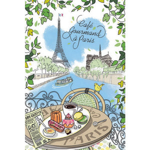 Cafe Gourmand kitchen Tea  Towel