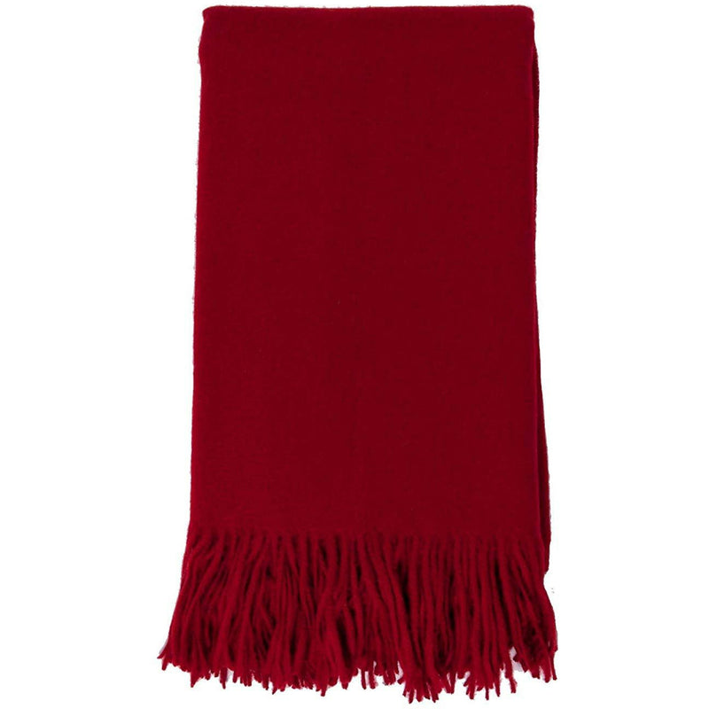 Cashmere Merino Blend The Classic Throw in Claret