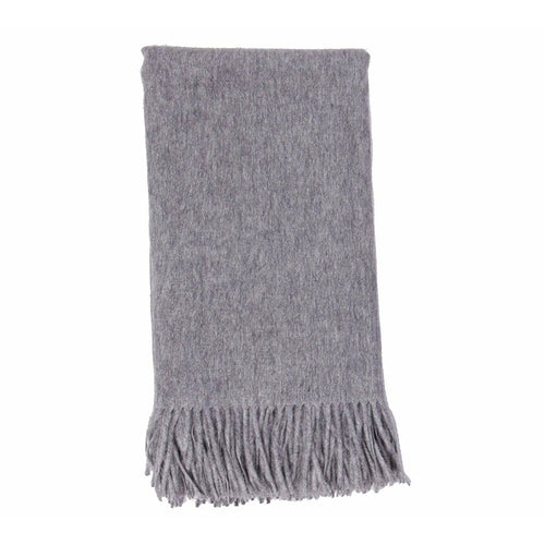 Plain Weave Cashmere Throw Ash