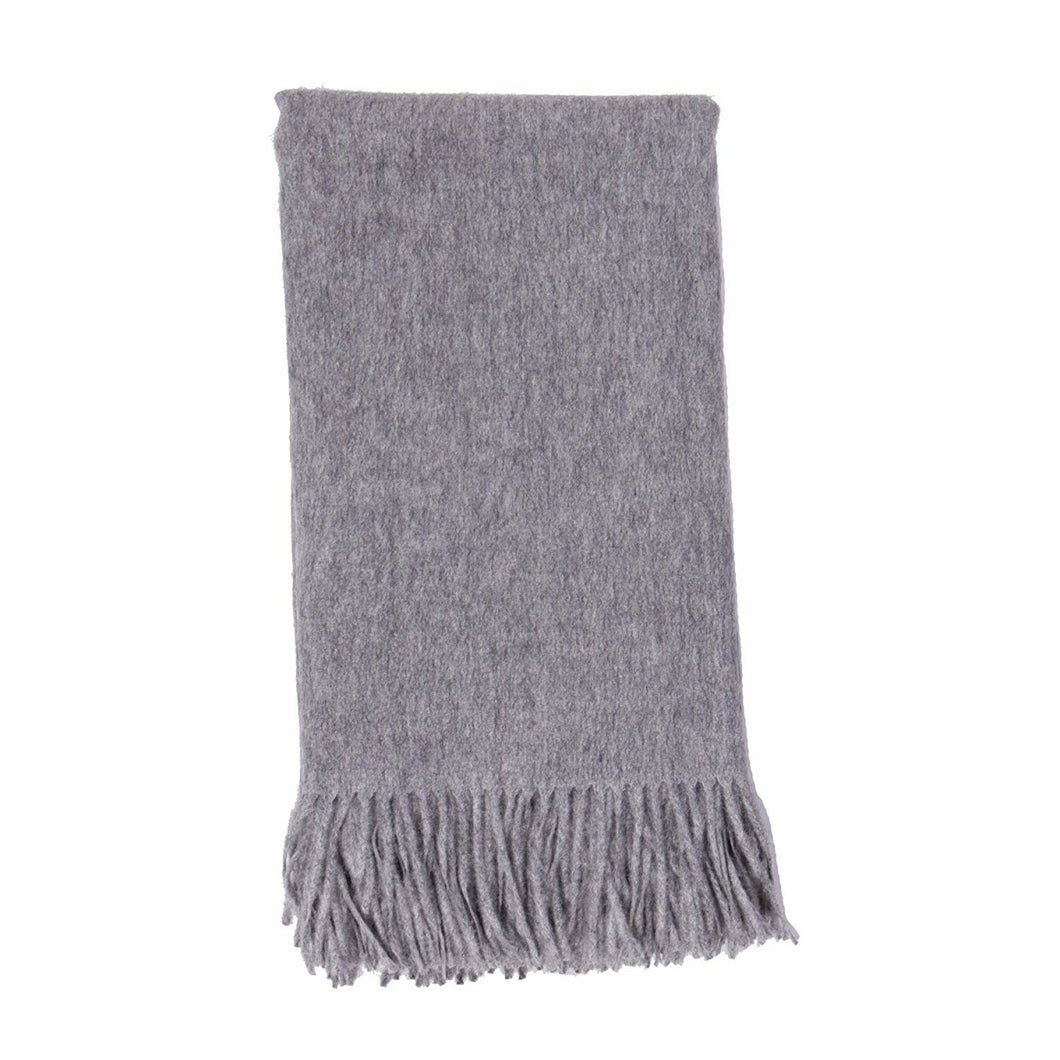 Cashmere Throw Plain Weave  Ash