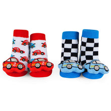 Load image into Gallery viewer, Baby Rattle Socks Race Car 0-12 M