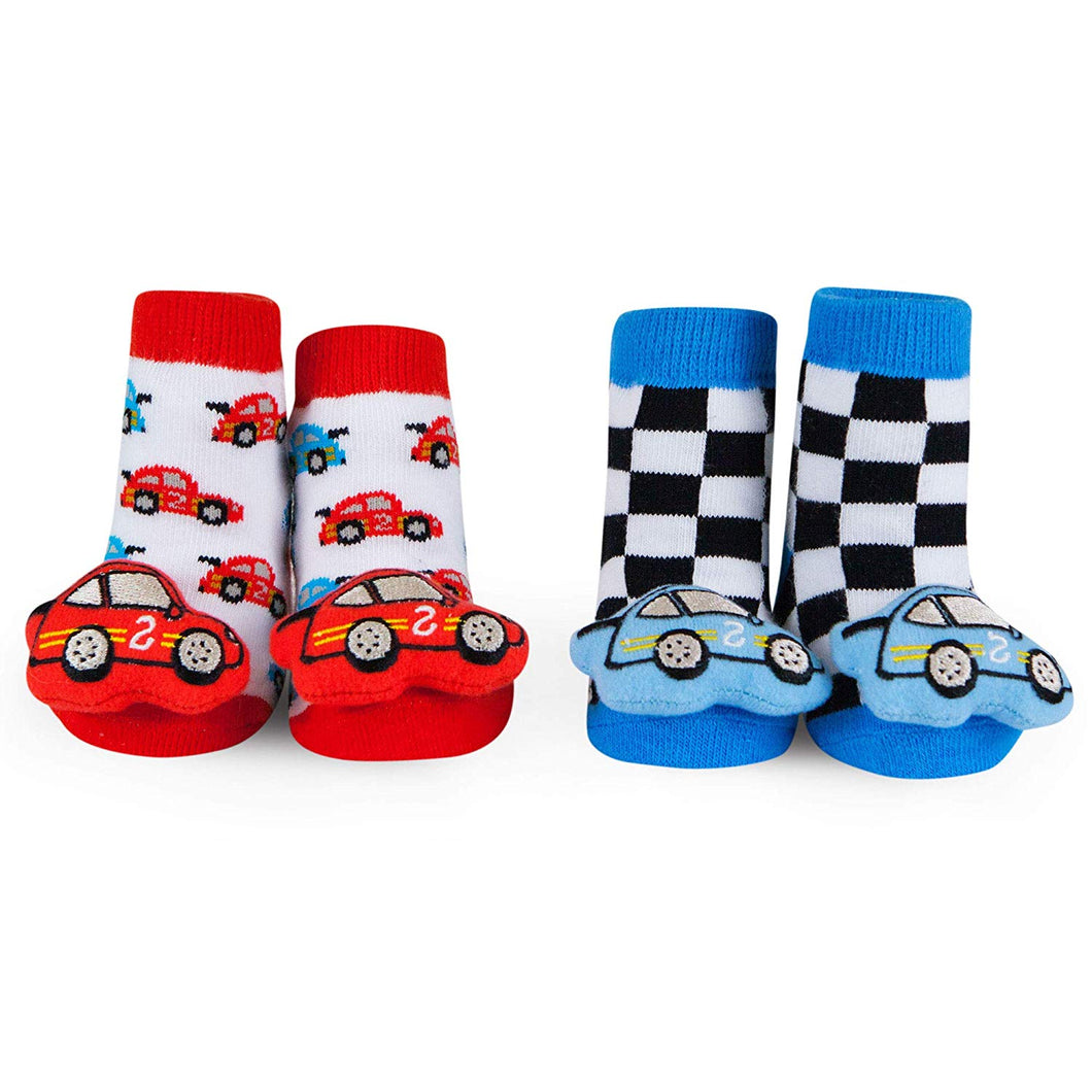 Baby Rattle Socks Race Car 0-12 M