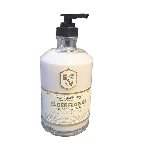 U.S. Apothecary Elderflower & Vetiver Hand & Body Lotion
