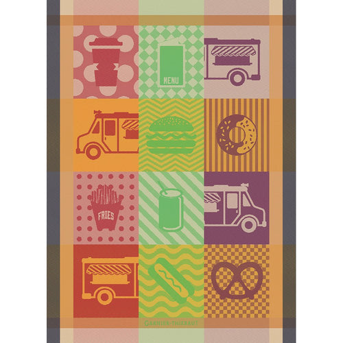 Street Food  French Kitchen Towel